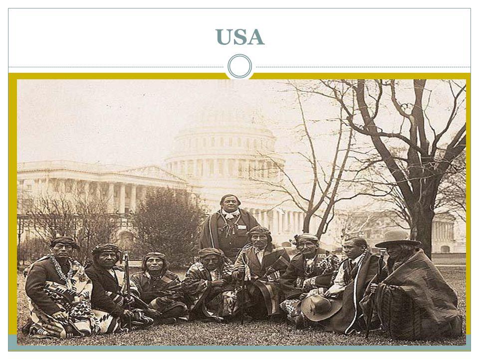 USA I løp av 1800-tallet vokste USA kraftig både i areal og i antall mennesker.