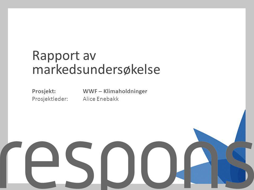 Rapport av markedsundersøkelse