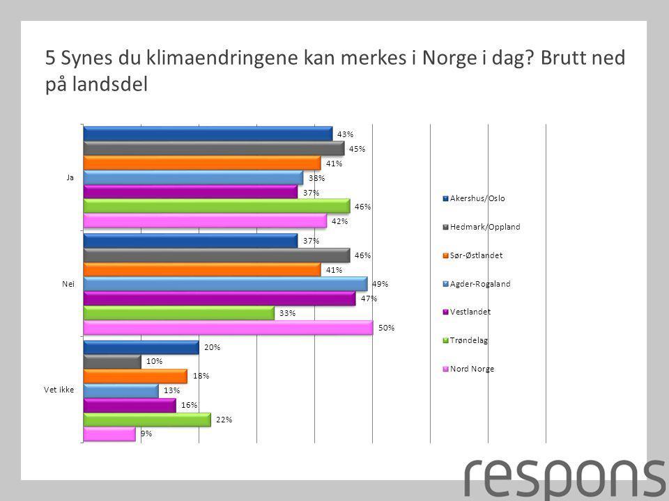 5 Synes du klimaendringene kan merkes i Norge i dag
