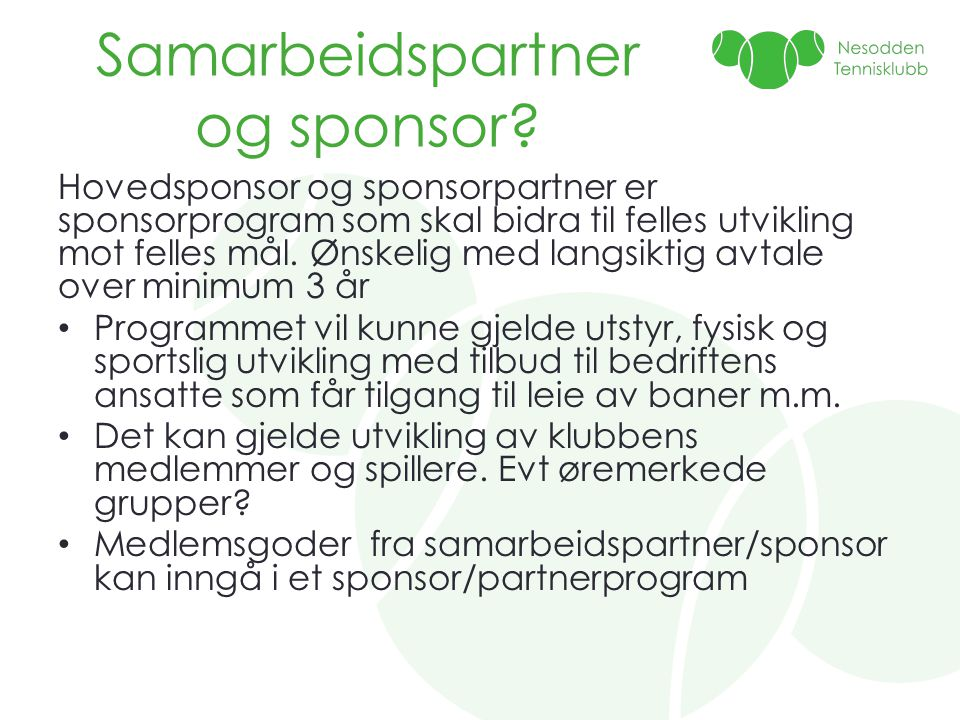 Samarbeidspartner og sponsor