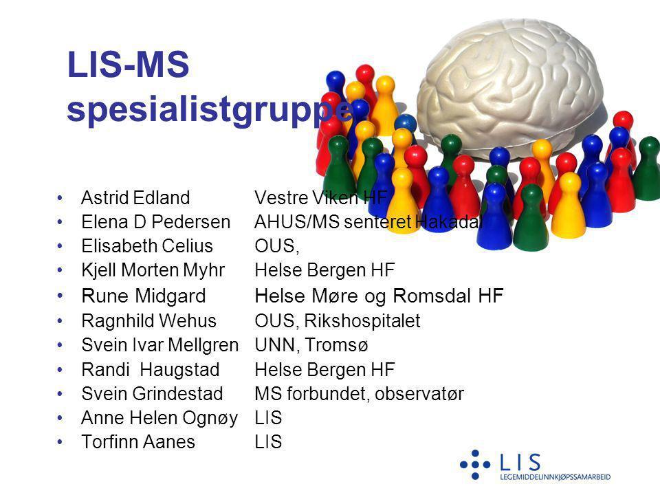 LIS-MS spesialistgruppe