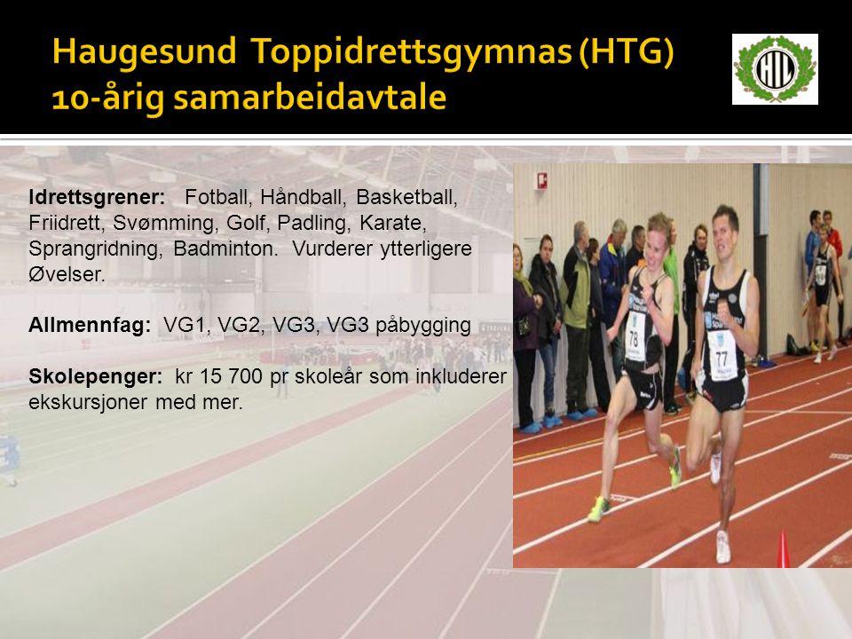 Haugesund Toppidrettsgymnas (HTG) 10-årig samarbeidavtale