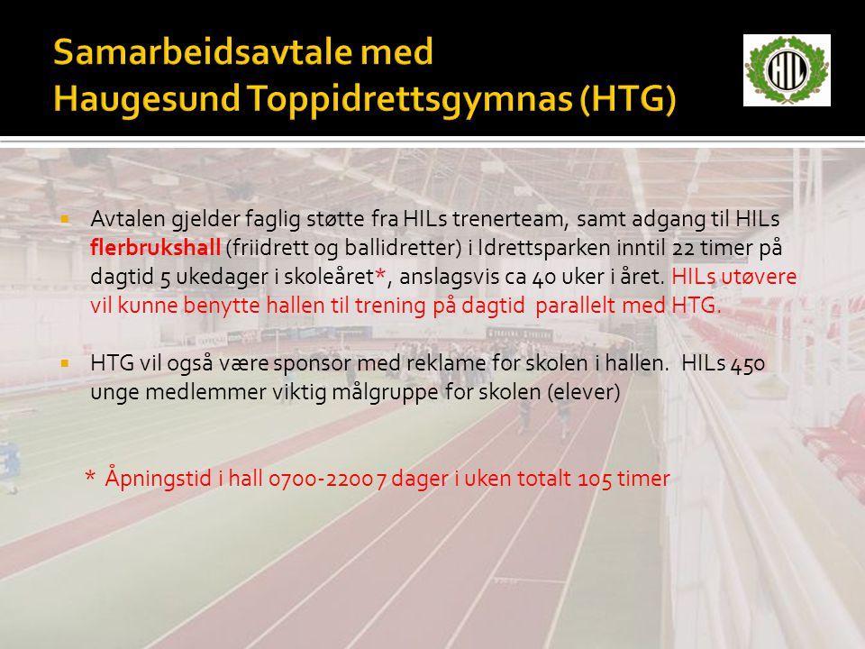 Samarbeidsavtale med Haugesund Toppidrettsgymnas (HTG)
