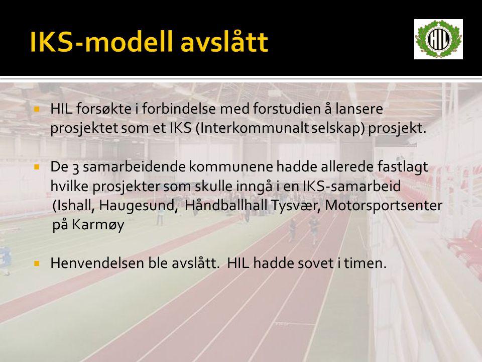 IKS-modell avslått HIL forsøkte i forbindelse med forstudien å lansere prosjektet som et IKS (Interkommunalt selskap) prosjekt.