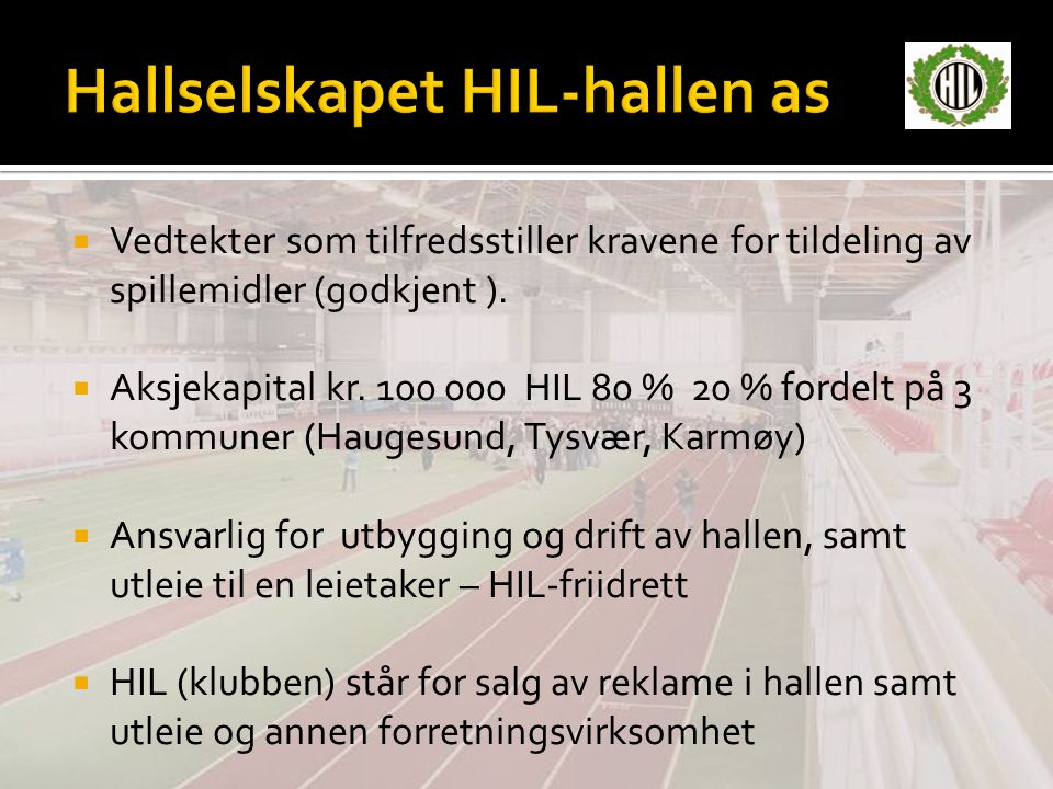 Hallselskapet HIL-hallen as
