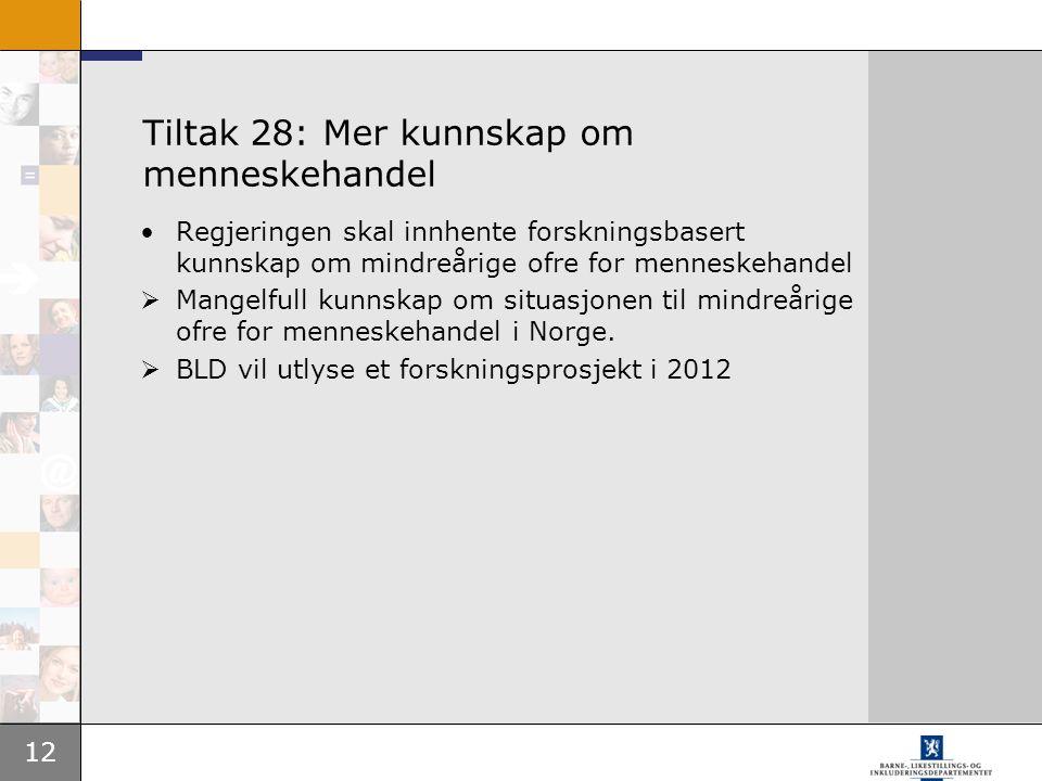 Tiltak 28: Mer kunnskap om menneskehandel