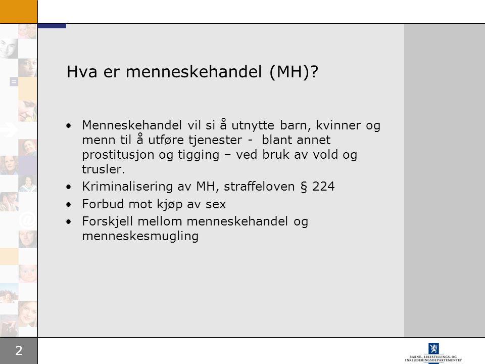 Hva er menneskehandel (MH)