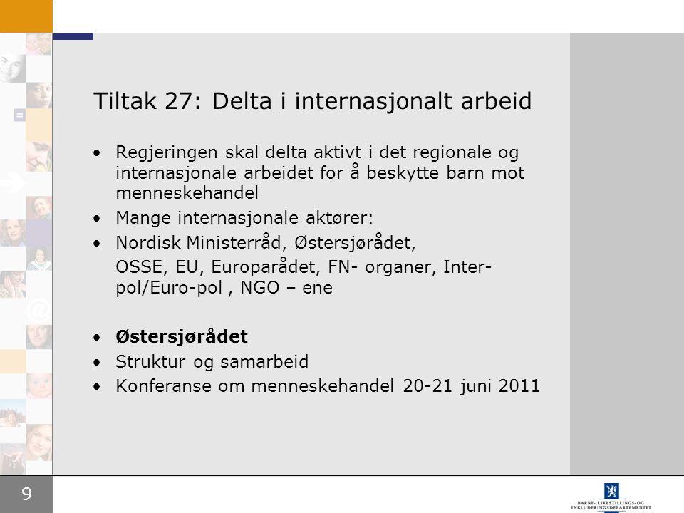 Tiltak 27: Delta i internasjonalt arbeid