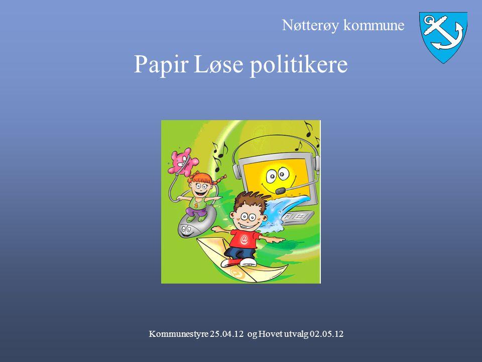 Kommunestyre 25.04.12 og Hovet utvalg 02.05.12