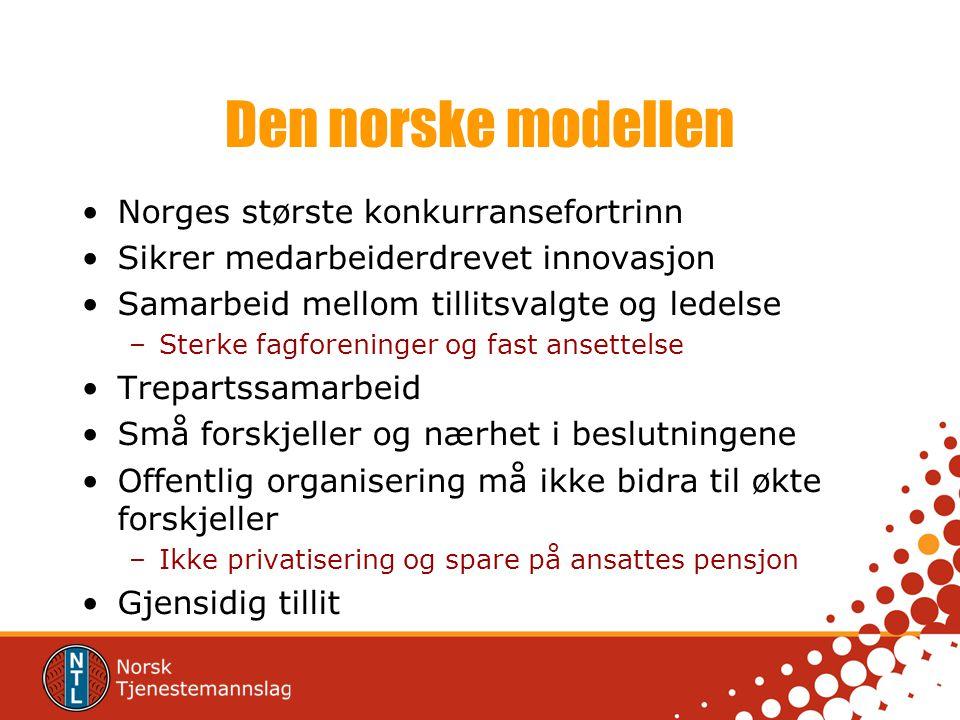 Den norske modellen Norges største konkurransefortrinn