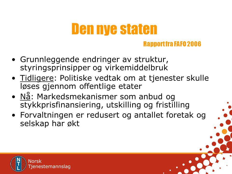 Den nye staten Rapport fra FAFO 2006