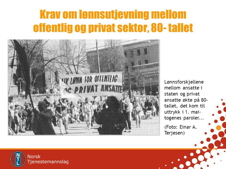 Krav om lønnsutjevning mellom offentlig og privat sektor, 80- tallet