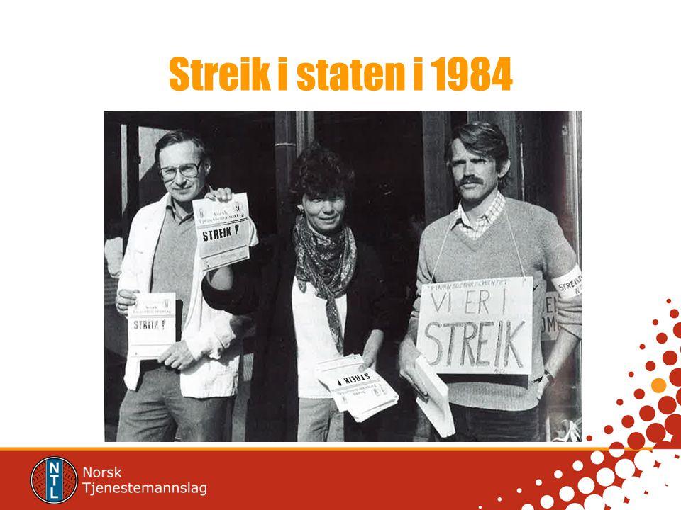 Streik i staten i 1984 NTLs eneste streik i staten, i 1984