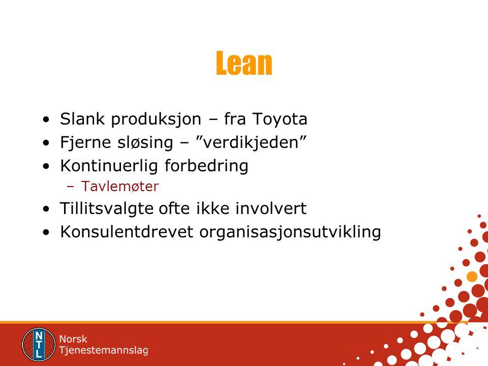 Lean Slank produksjon – fra Toyota Fjerne sløsing – verdikjeden