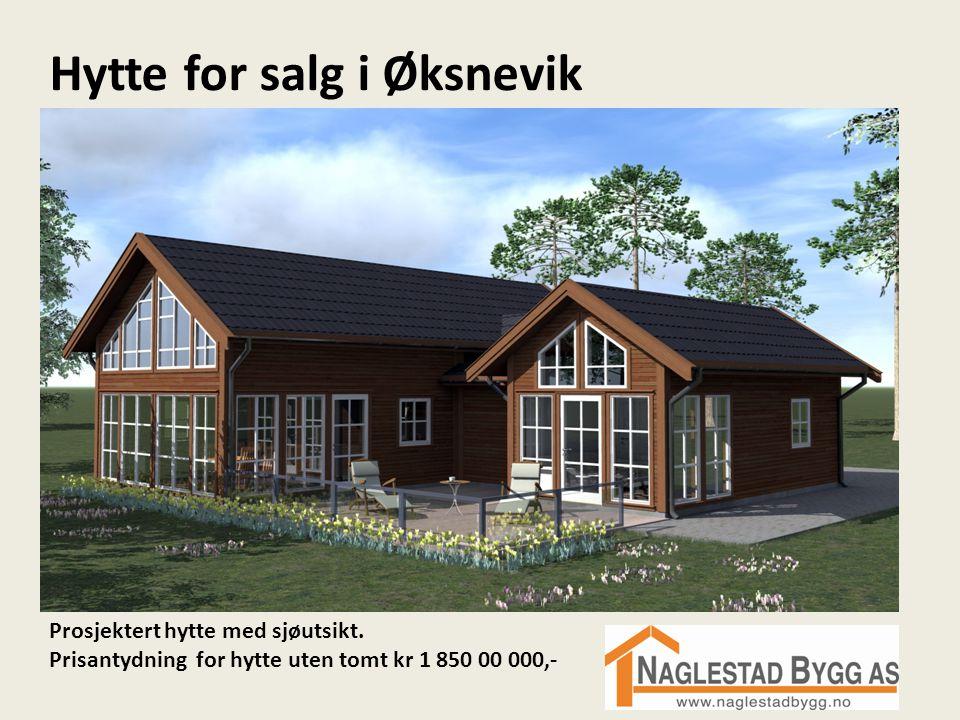 Hytte for salg i Øksnevik