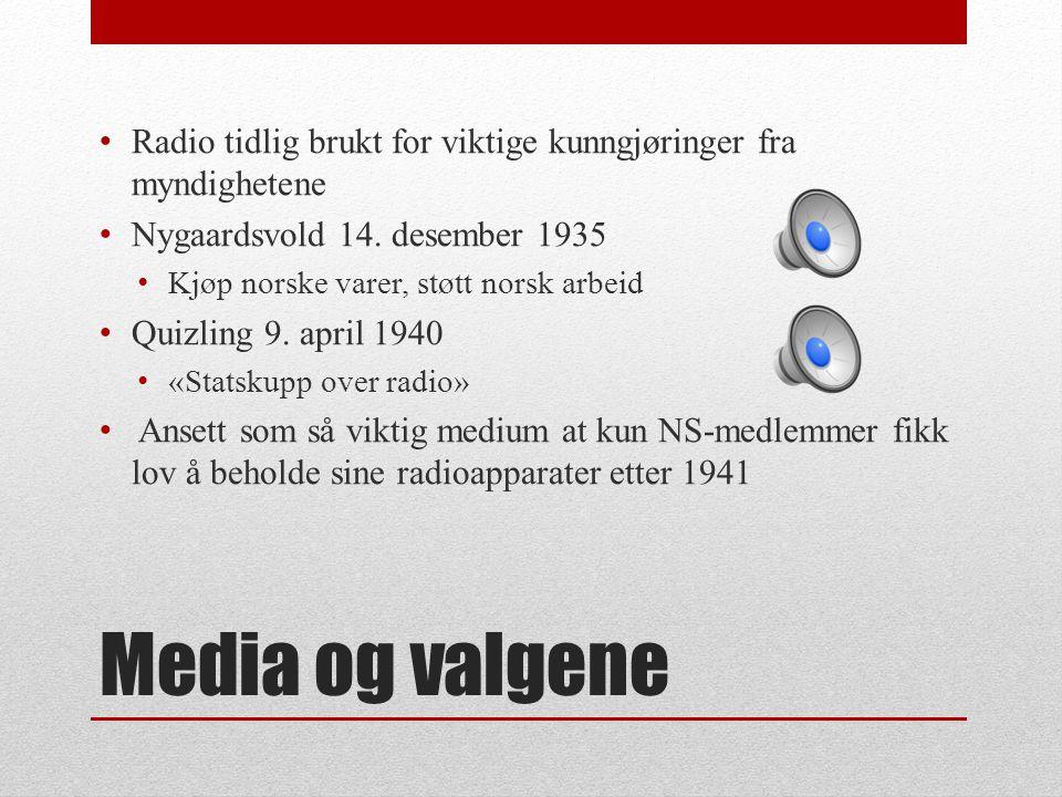 Radio tidlig brukt for viktige kunngjøringer fra myndighetene