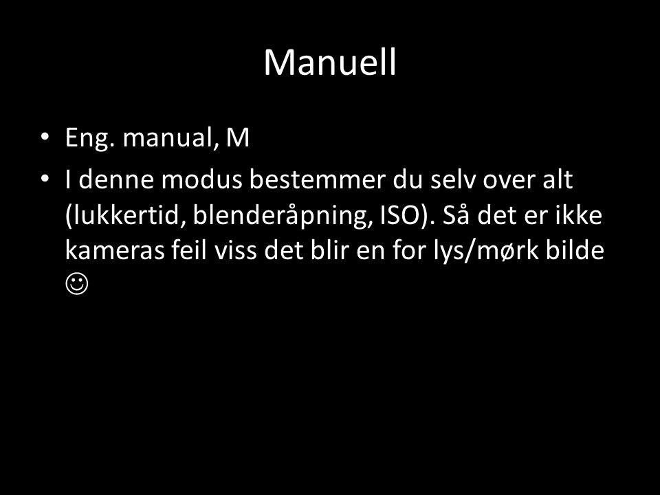 Manuell Eng. manual, M.