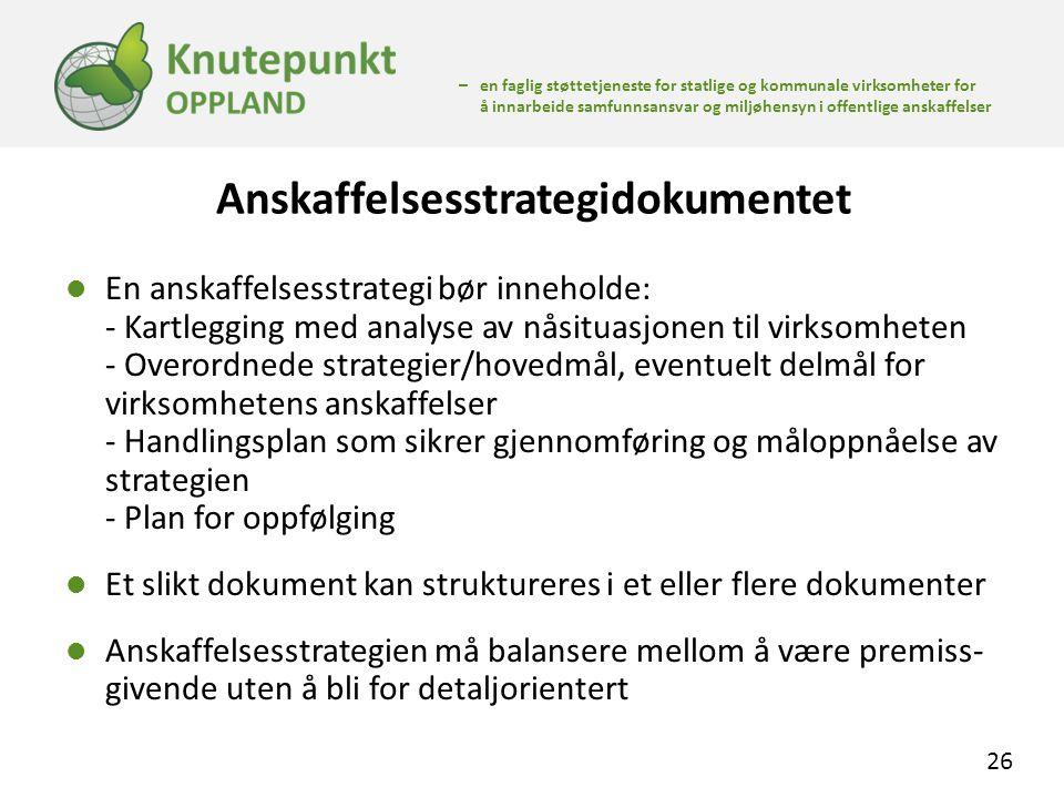 Anskaffelsesstrategidokumentet