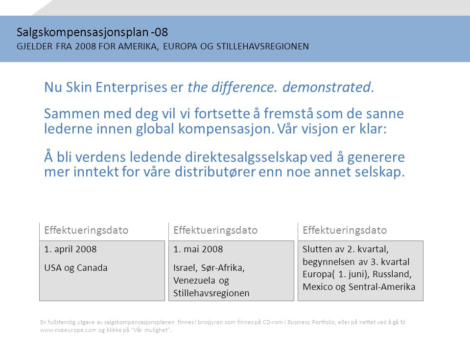 Nu Skin Enterprises er the difference. demonstrated.