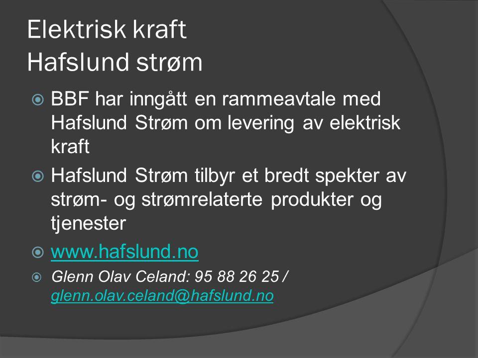 Elektrisk kraft Hafslund strøm