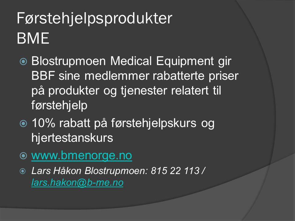 Førstehjelpsprodukter BME