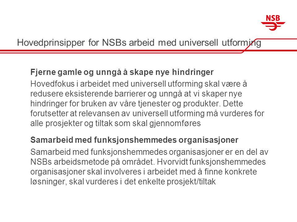 Hovedprinsipper for NSBs arbeid med universell utforming