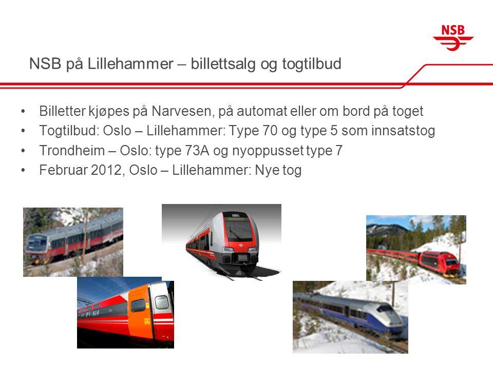 NSB på Lillehammer – billettsalg og togtilbud