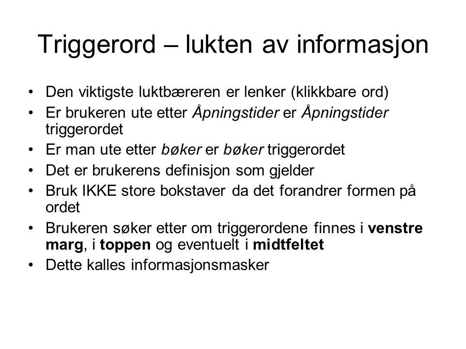 Triggerord – lukten av informasjon