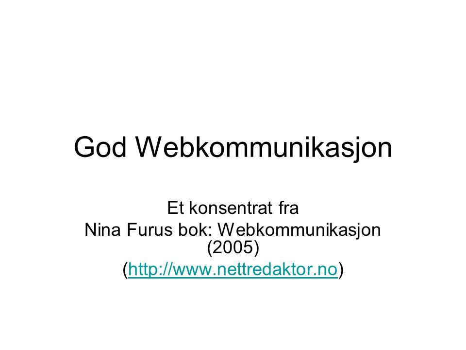 Nina Furus bok: Webkommunikasjon (2005)