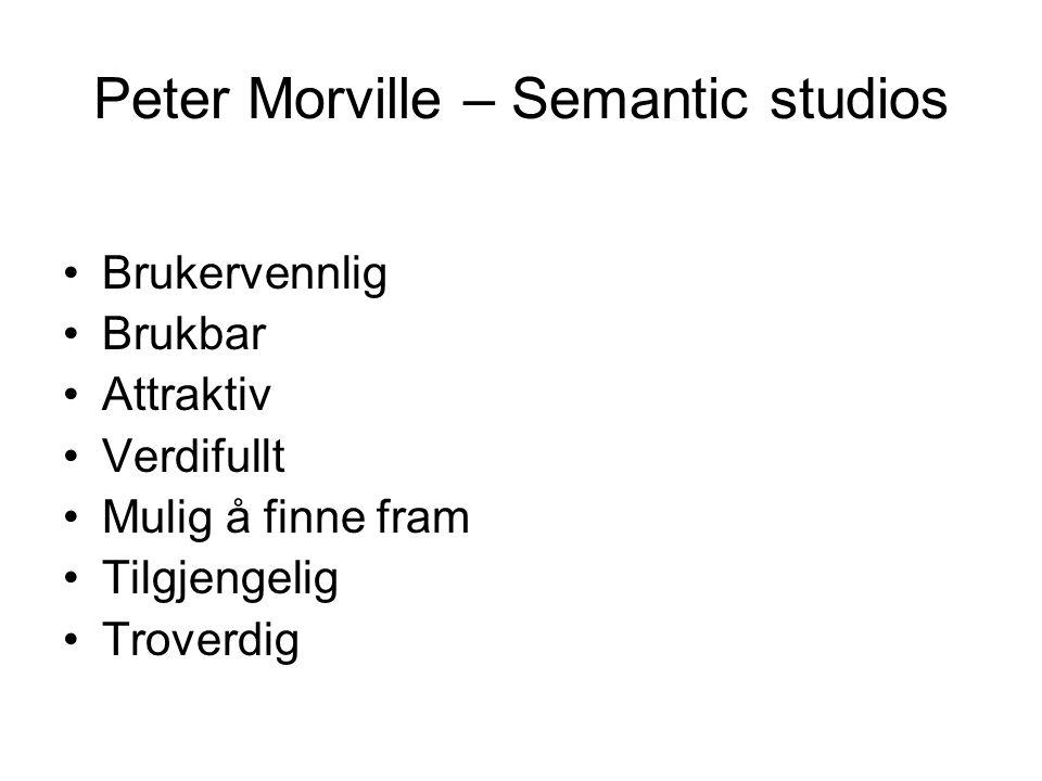 Peter Morville – Semantic studios
