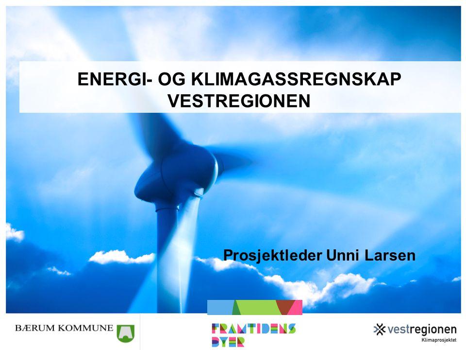 Energi- og klimagassregnskap Vestregionen