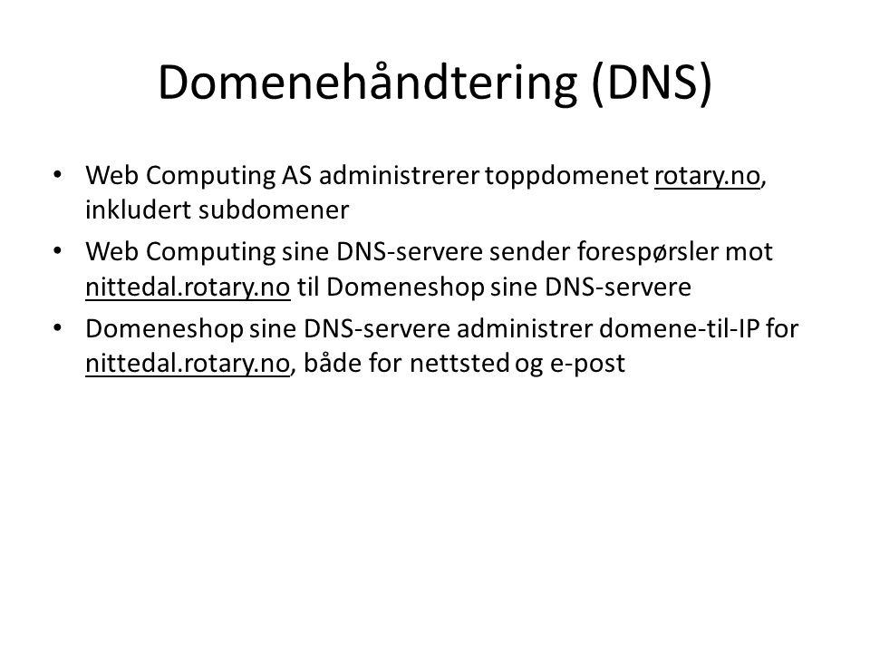 Domenehåndtering (DNS)