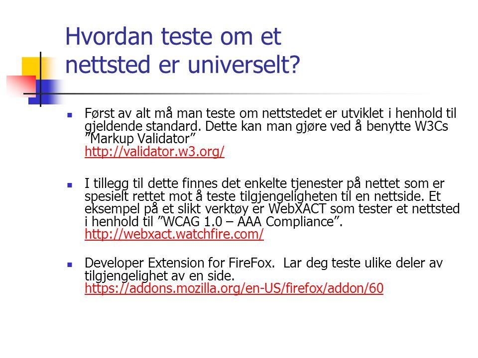 Hvordan teste om et nettsted er universelt