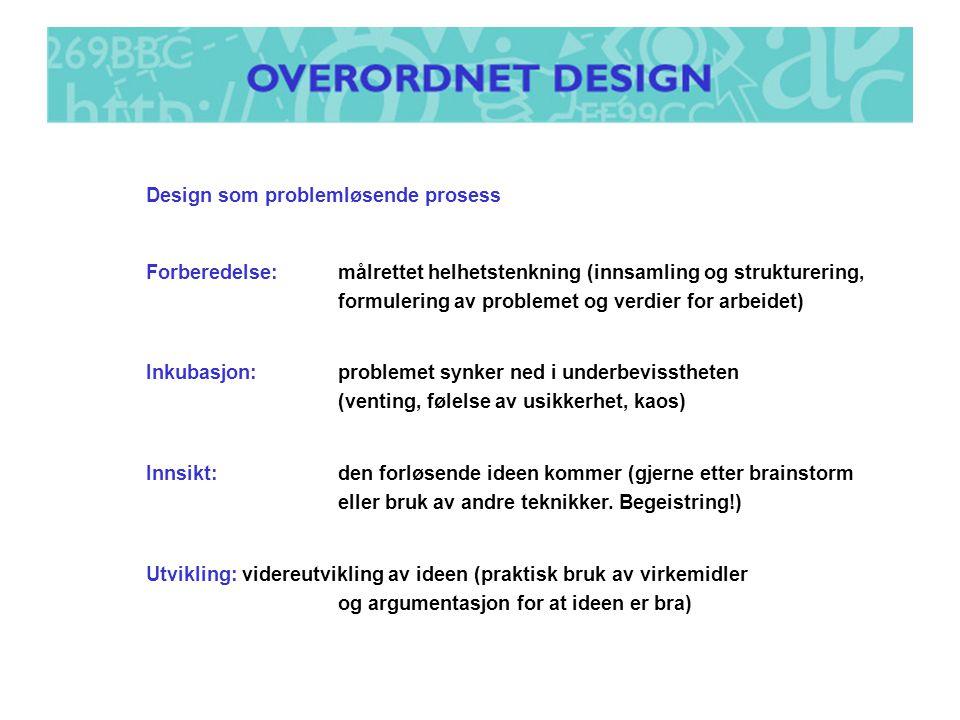 Design som problemløsende prosess