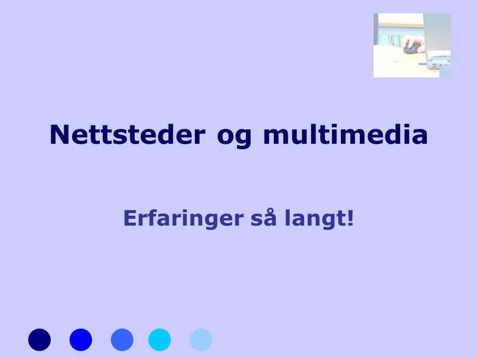Nettsteder og multimedia