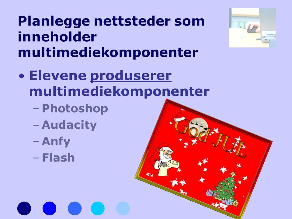 Planlegge nettsteder som inneholder multimediekomponenter