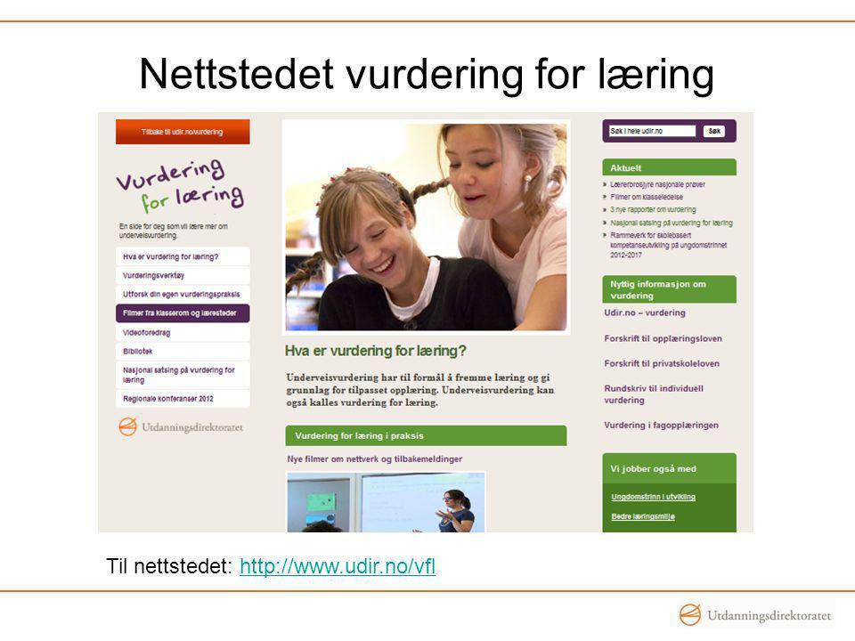 Nettstedet vurdering for læring