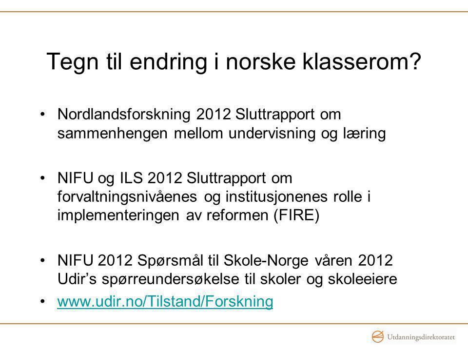 Tegn til endring i norske klasserom