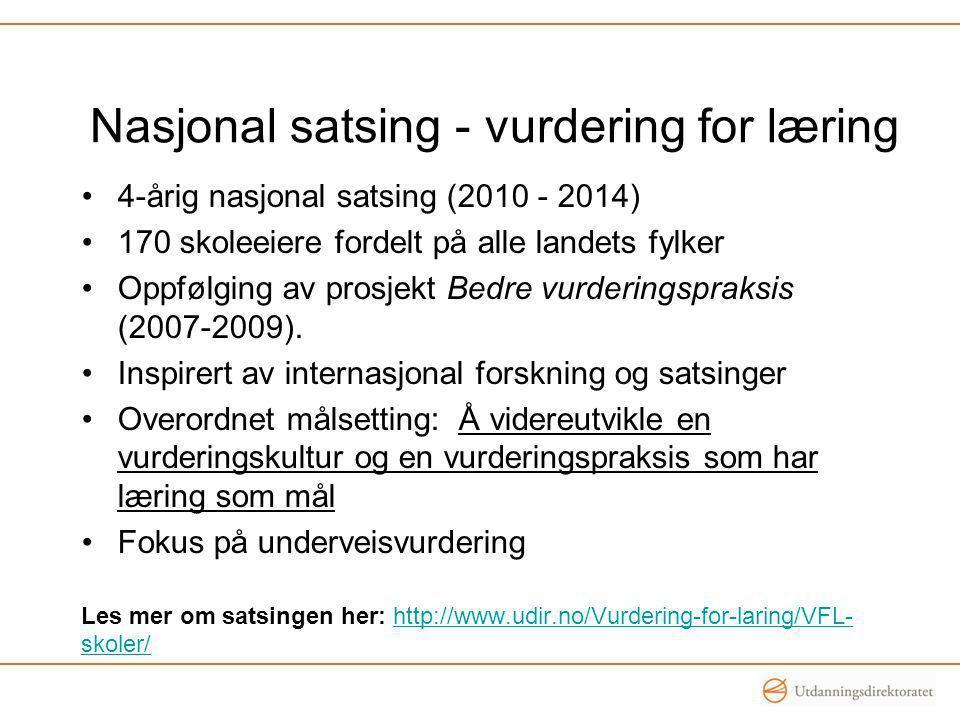 Nasjonal satsing - vurdering for læring