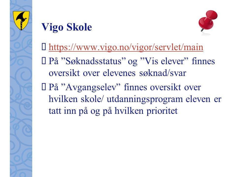 Vigo Skole https://www.vigo.no/vigor/servlet/main