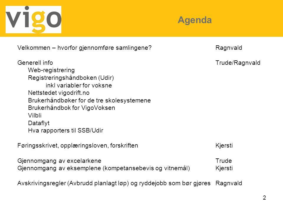 Agenda Velkommen – hvorfor gjennomføre samlingene Ragnvald