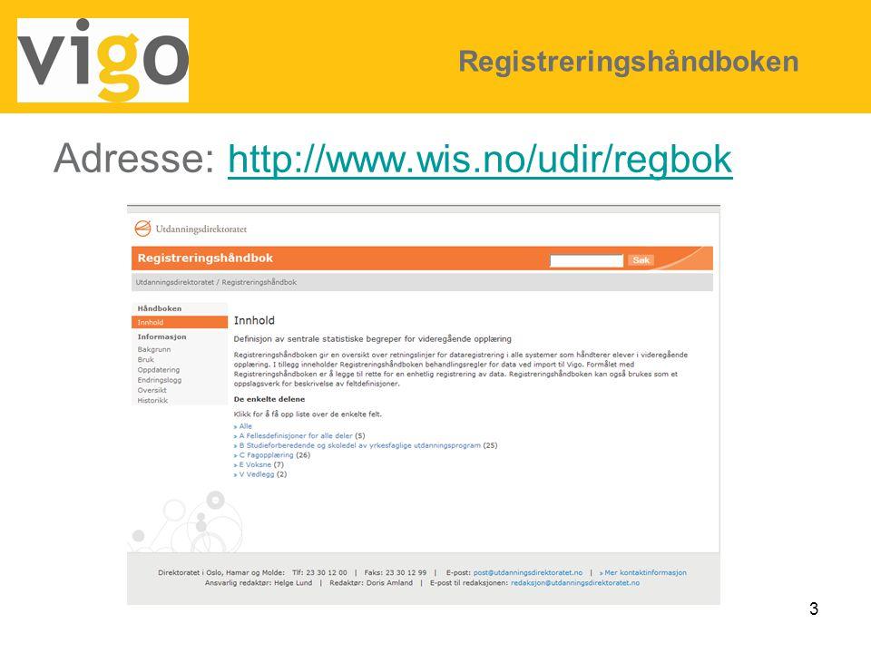 Adresse: http://www.wis.no/udir/regbok