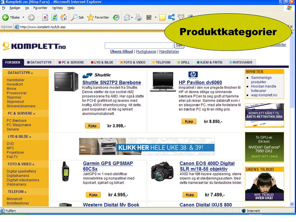 Produktkategorier