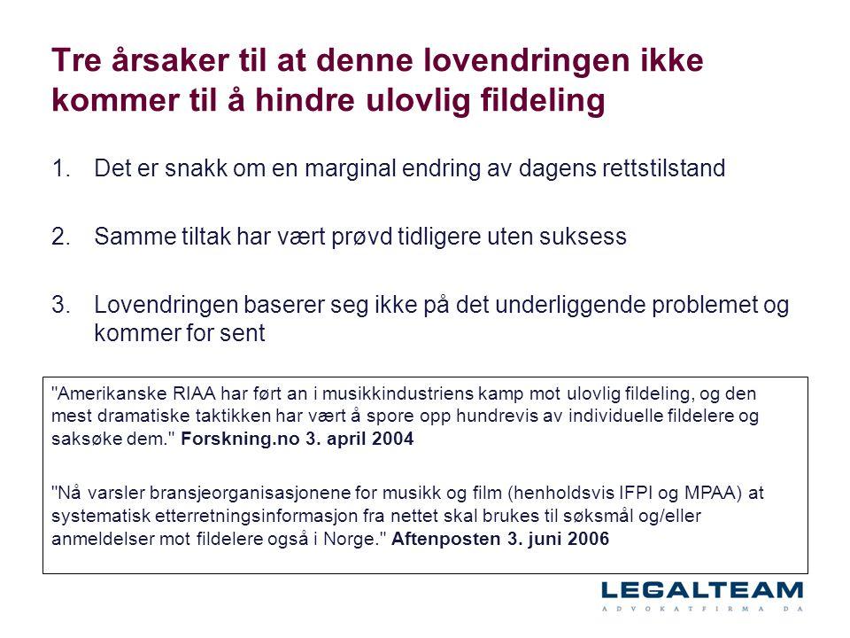 Tre årsaker til at denne lovendringen ikke kommer til å hindre ulovlig fildeling