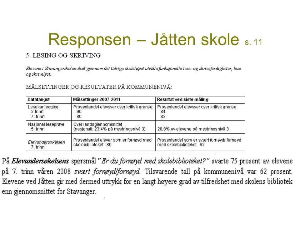 Responsen – Jåtten skole s. 11