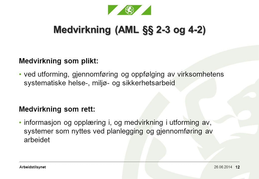 Medvirkning (AML §§ 2-3 og 4-2)