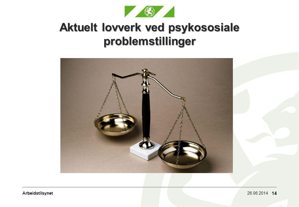 Aktuelt lovverk ved psykososiale problemstillinger