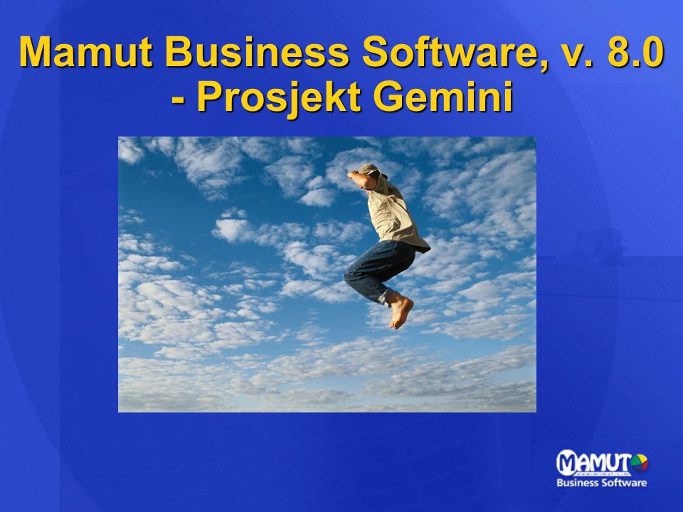 Mamut Business Software, v. 8.0 - Prosjekt Gemini