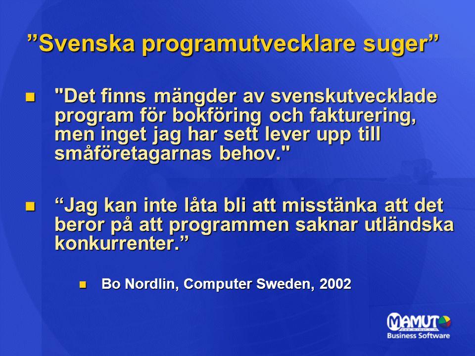 Svenska programutvecklare suger