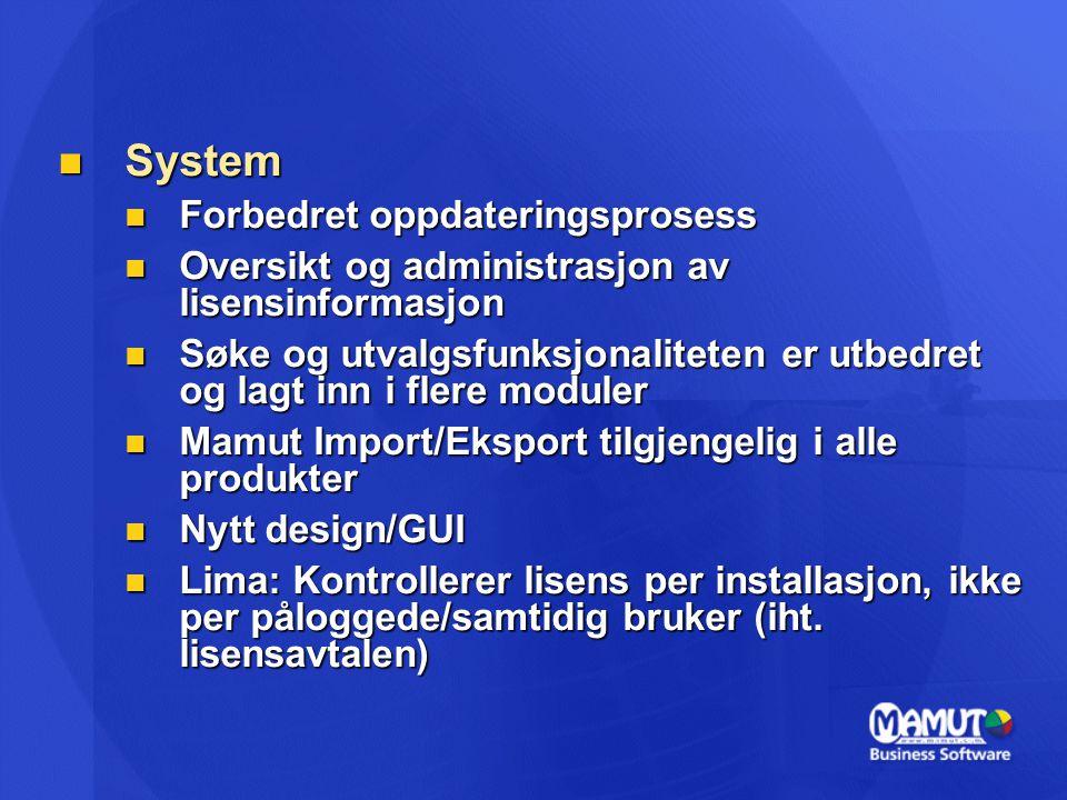 System Forbedret oppdateringsprosess